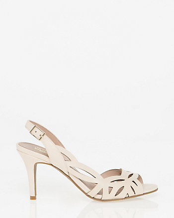Leather Half d'Orsay Slingback