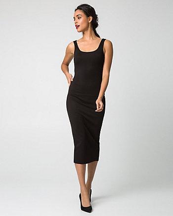 Ponte Scoop Neck Midi Dress