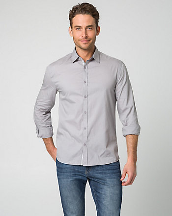 Tonal Cotton Tailored Fit Shirt
