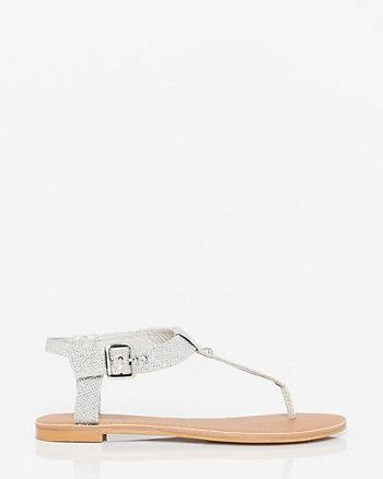Glitter Mesh Flat Sandal