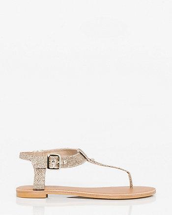 Glitter Mesh Thong Sandal