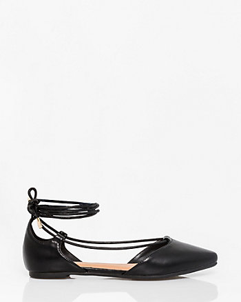 Leather-Like Ghillie Tie Flat