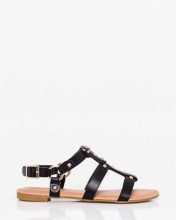 Leather-Like Gladiator Sandal