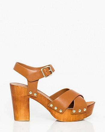 Leather-Like Criss-Cross Clog