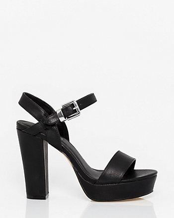 Leather-Like Platform Sandal