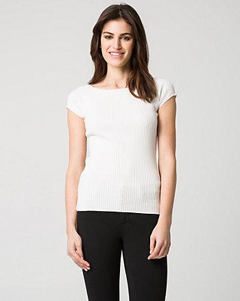Viscose Blend Rib Sweater
