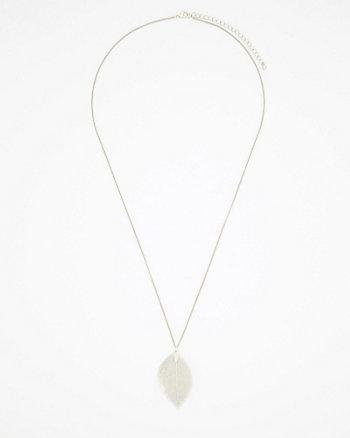 Metal Leaf Pendant Necklace