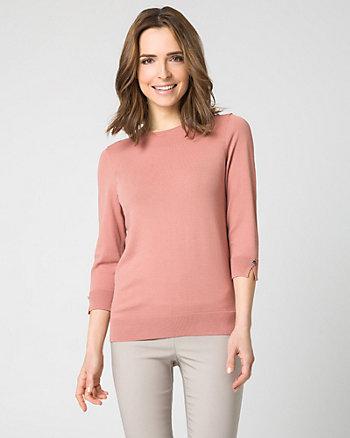 Viscose Blend Crew Neck Sweater
