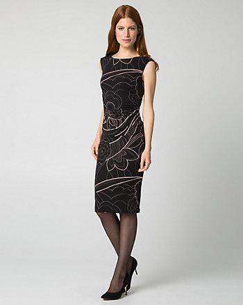 Floral Print Knit Shift Dress