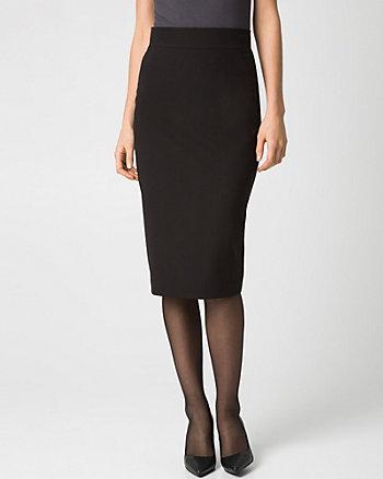 Woven High Waist Midi Skirt