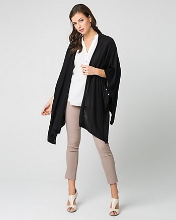 Jersey Open-Front Poncho