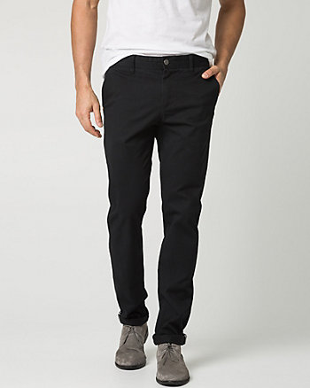 Stretch Cotton Blend Slim Leg Pant