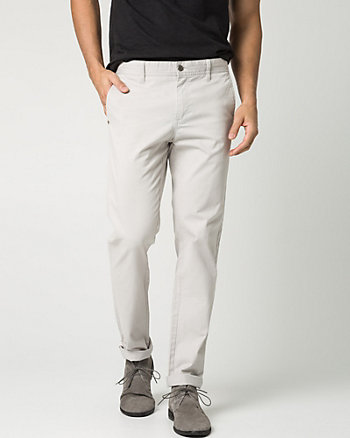 Stretch Cotton Blend Slim Leg Pant