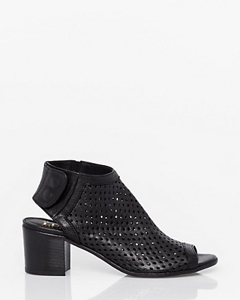 Italian-Made Perforated Leather Shootie