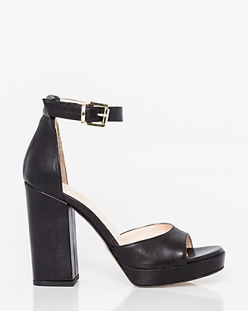 Italian-Made Leather Ankle Strap Sandal