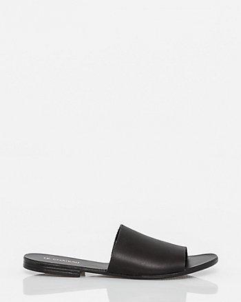 Italian Designed Leather Slide Sandal