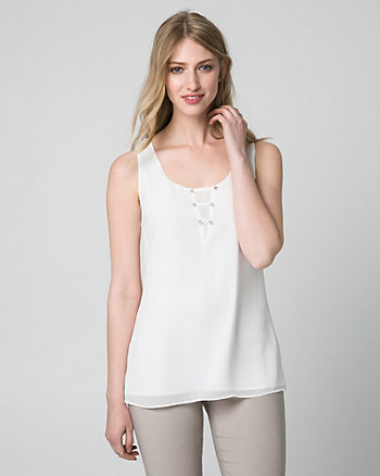 Chiffon Scoop Neck Tank