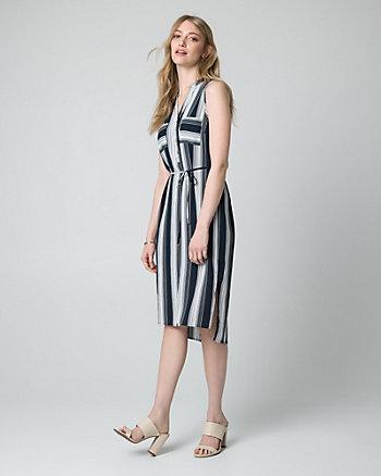 Stripe Crêpe de Chine Shirtdress