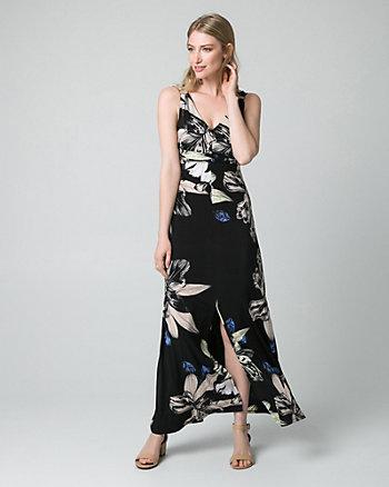 Floral Print Knit Maxi Dress