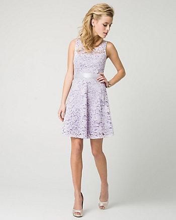 Lace Illusion Party Dress