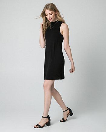 Jersey Mock Neck Mini Dress