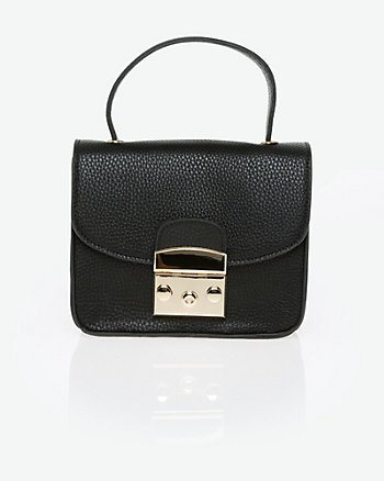Leather-Like Bag with Crossbody Strap