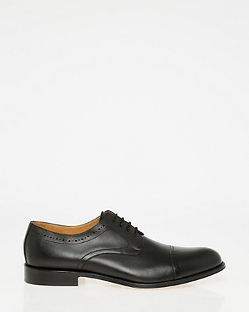 Italian-Made Leather Cap Toe Derby