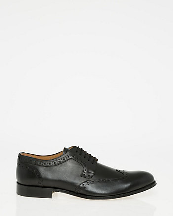 Italian-Made Leather Wingtip Brogue