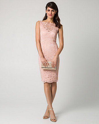 Lace Illusion Cocktail Dress