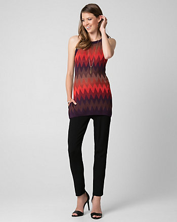 Textured Viscose Halter Sweater