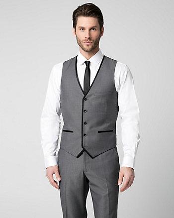 Tonal Woven Contemporary Fit Vest