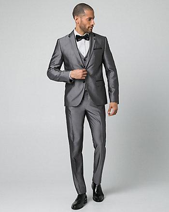 Shiny Herringbone Slim Fit Blazer