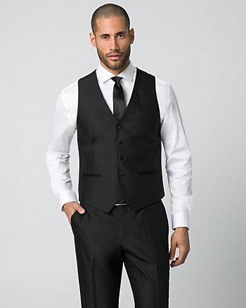 Shiny Herringbone City Fit Vest