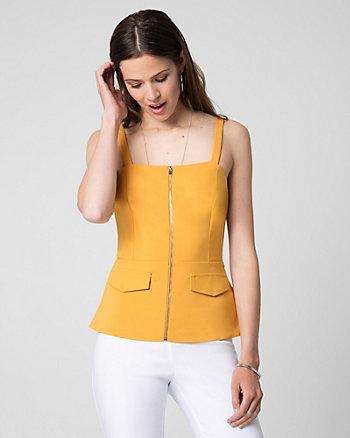 Camisole à basque en tricot point de Rome