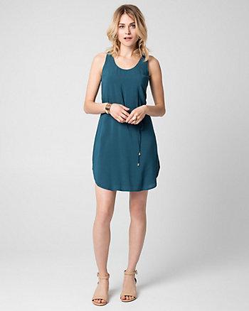 Challis Scoop Neck Tunic Dress