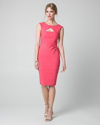 Bengaline Cutout Shift Dress