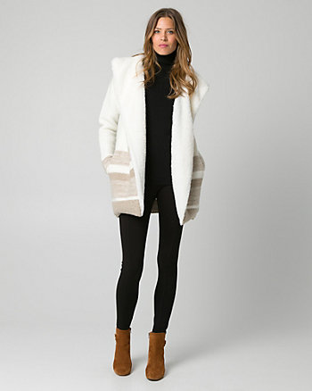 Faux Sherpa & Wool Blend Coatigan