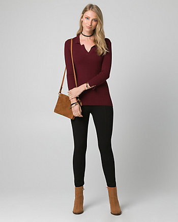 Viscose Blend Polo Sweater