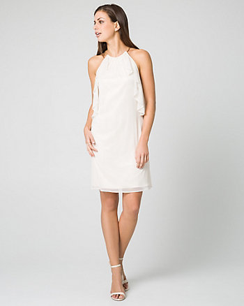 Foil Knit Convertible Cocktail Dress