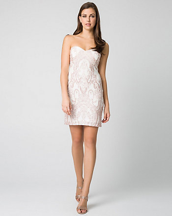Sparkle Knit Sweetheart Cocktail Dress