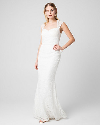 Guipure Lace Sweetheart Gown