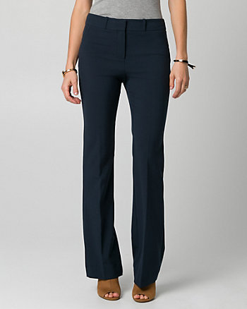 Viscose Blend Slight Flare Leg Pant