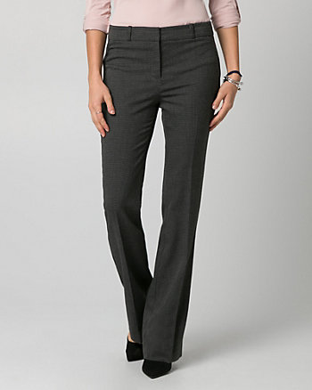 Birdseye Slight Flare Leg Pant
