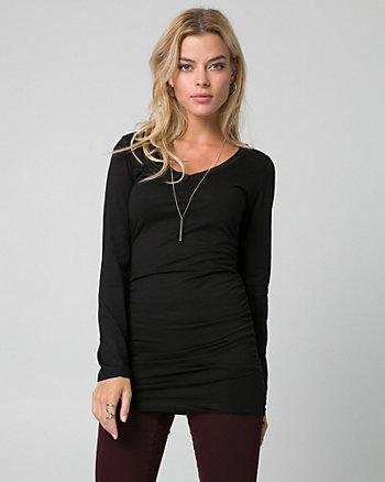 Cotton & Modal V-Neck Tunic