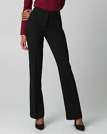 Double Weave Slight Flare Leg Pant