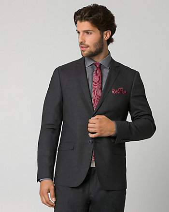 Tonal Crosshatch City Fit Blazer
