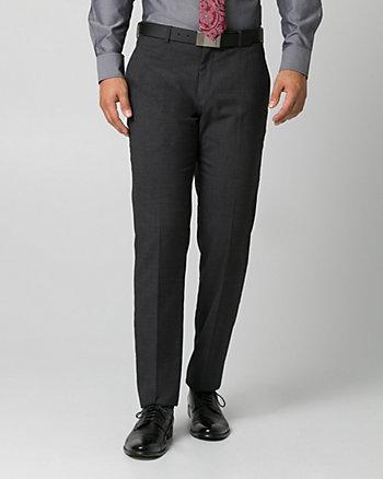 Tonal Crosshatch Straight Leg Pant