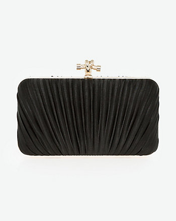 Pleated Satin Minaudière