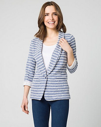 Stripe French Terry Blazer