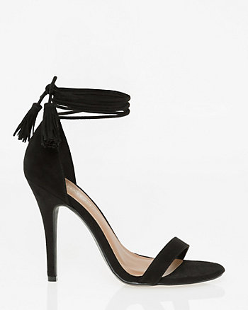 Suede-Like Open Toe Ghillie Tie Sandal